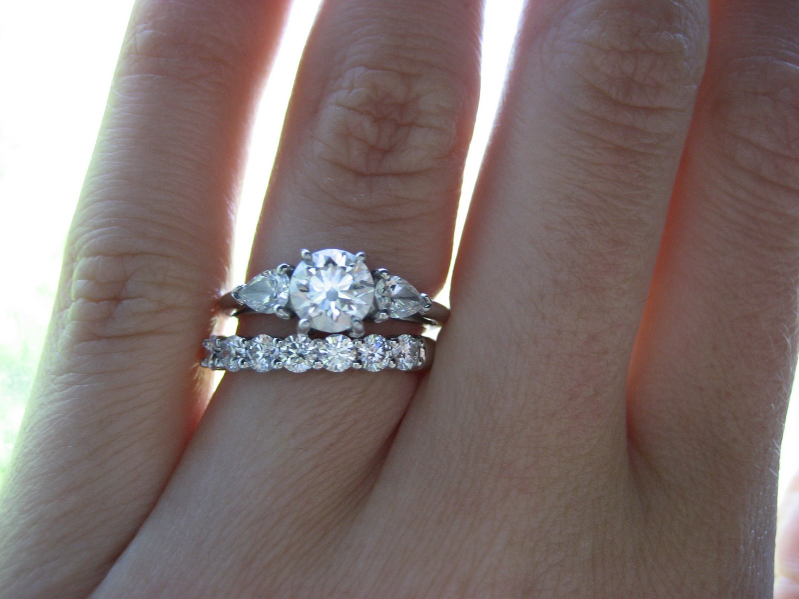 engagement ring wedding ring rules